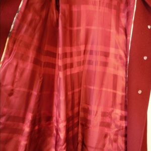 Burberry burgundy red trench coat
